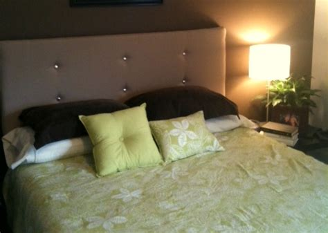 makeshift headboard how to make a contemporary upholstered headboard for under