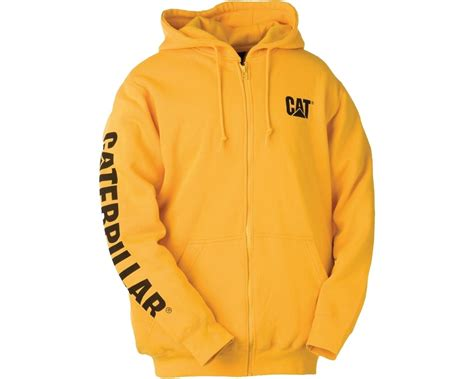Jaket Zipper Sweater Hoodie Caterpillar Hitam 5 caterpillar zip hooded sweatshirt with cat logo