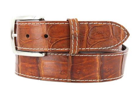 Handcrafted Belts - handmade genuine crocodile golf belts gibbons