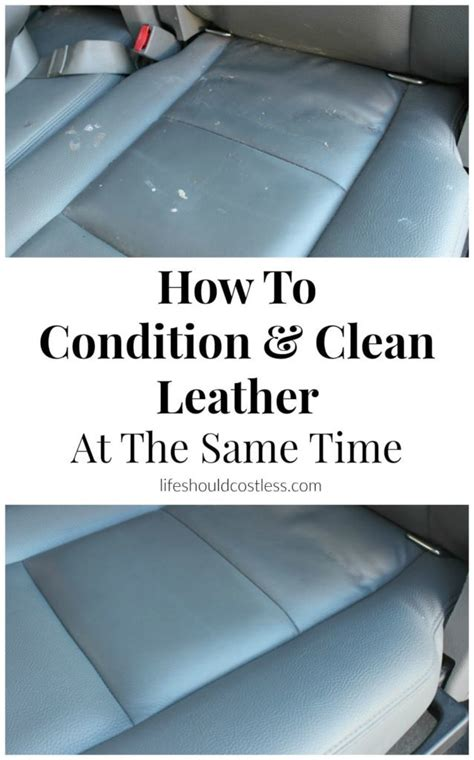 how to condition and clean smooth leather at the same