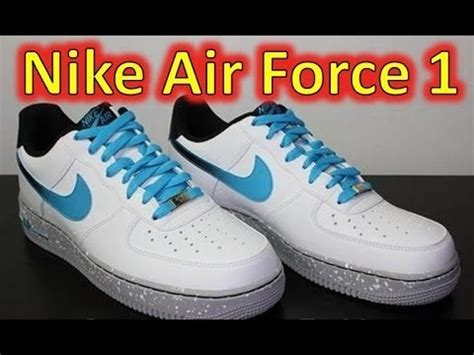 nike air force   whitecurrent blue review  feet
