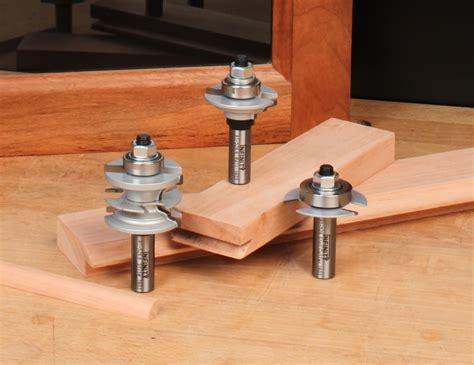 infinity woodworking three glass cabinet door router bit set
