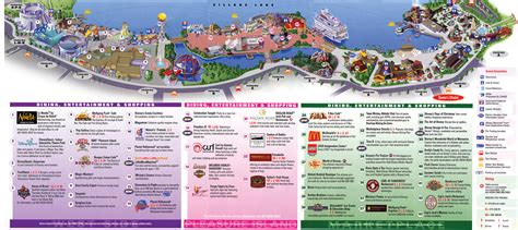 map of downtown disney downtown disney map disney secrets
