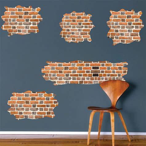 brick wall stickers brick self adhesive wall decals brick wallpaper decal