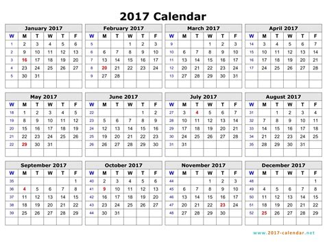calendar template for numbers weekly number calendar 2017 weekly calendar template