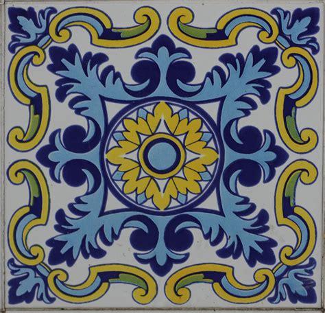 Pictures Of Glass Tile Backsplash In Kitchen blue spanish tile texture 14textures