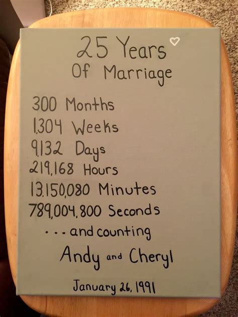 25th wedding anniversary diy gifts 25 best ideas about 25th anniversary gifts on