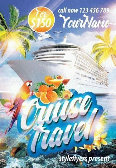 Cruise Travel Psd Flyer Template 9043 Styleflyers Cruise Flyer Template Free