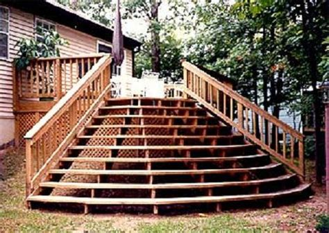 Back Stairs Design 16 Best Images About Back Deck Designs On Pinterest Ground Level Back Deck And Patio Deck Designs