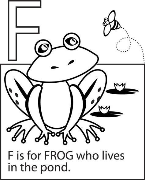 F Frog Coloring Page by Frog Coloring Pages Color Book