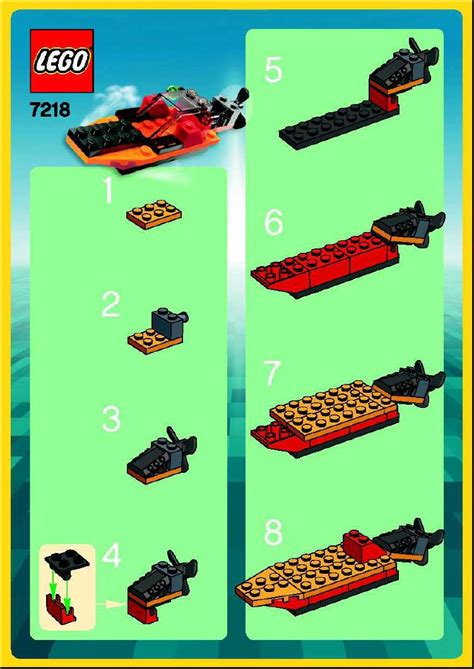 lego boat step by step lego boat instructions 7218 make and create