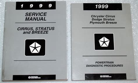 1999 dodge stratus chrysler cirrus plymouth breeze shop service manual 5 vol set ebay