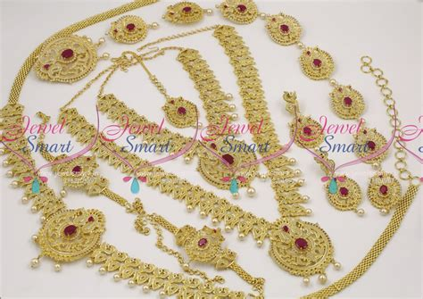 buy indian jewelry online latest indian fashion bridal ws6969 american diamond grand full bridal jewellery set