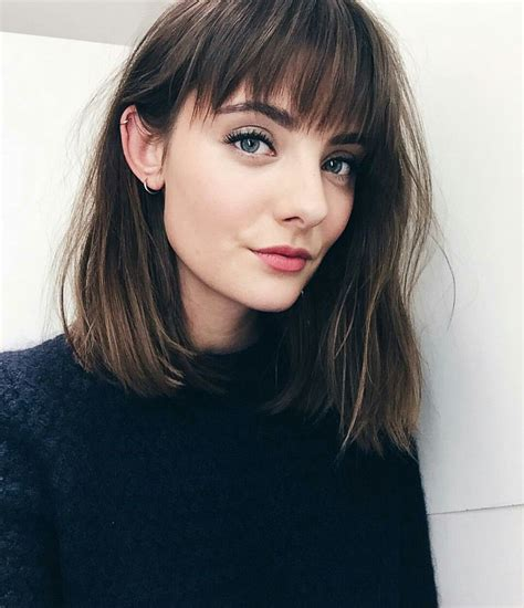 lob cut with bangs pinterest lilyxritter beauty pinterest hair bobs