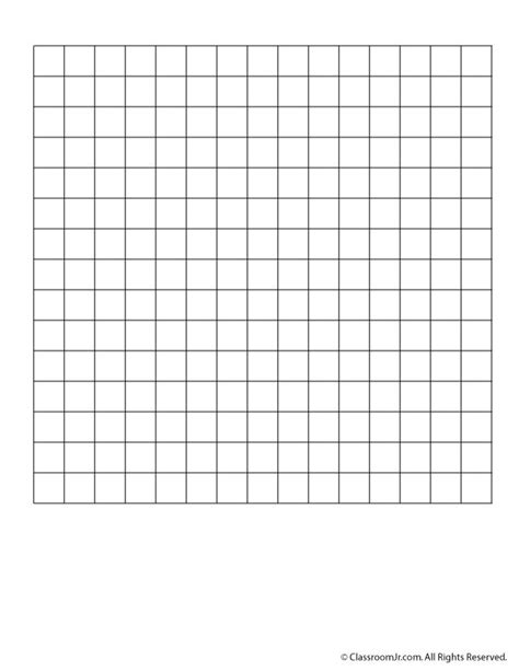 pattern paper grid blank 15 x 15 grid paper or word search grid classroom