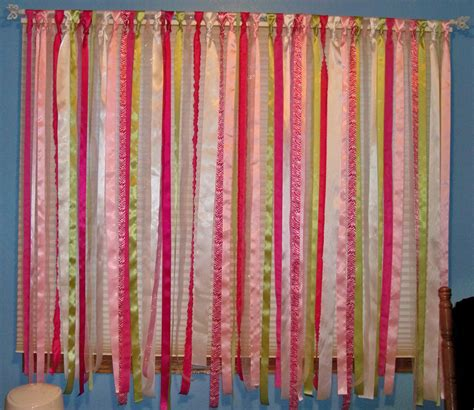 ribbon drapes ribbon on curtains