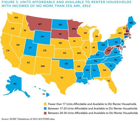 mapping the affordable housing deficit for each state in 1 bedroom low income apartments penns crossing apartments