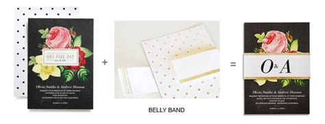 Wedding Paper Divas Belly Bands by Wedding Paper Divas Foil Sted Invitations Diy Goodies