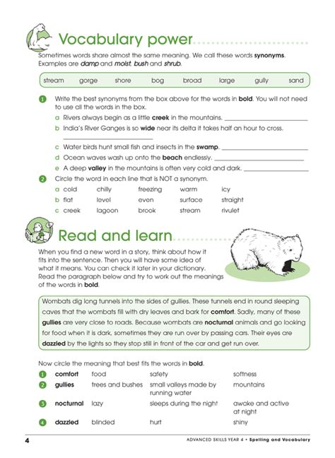 spelling and vocabulary workbook 1407141899 excel advanced skills spelling and vocabulary workbook year 4 pascal press educational