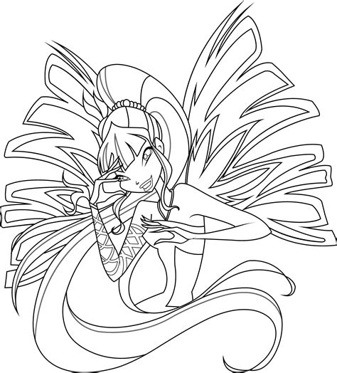 Musa Sirenix Coloring Page By Icantunloveyou On Deviantart Winx Club Musa Coloring Pages