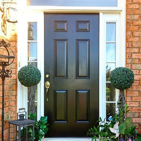 diy exterior door black front door modern masters cafe blog