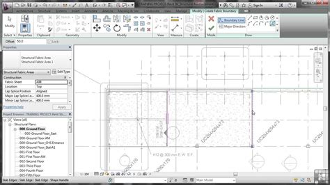 tutorial for revit 2014 revit structure 2014 tutorial fabric reinforcement youtube