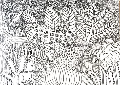 free coloring pages of henri rousseau jungle