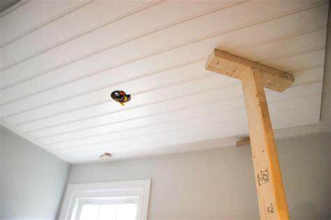 diy beadboard ceiling tutorial easy and inexpensive