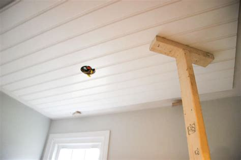DIY Beadboard Ceiling Tutorial Easy and Inexpensive Custom Treatment