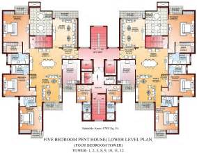 level house plans floor plans 8 bedroom house5bhk penthouse lower level plan tower