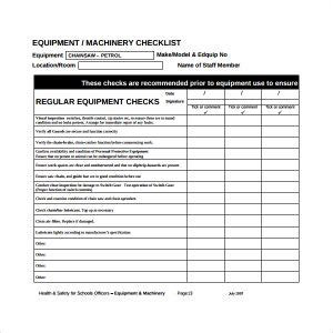 Preventative Maintenance Checklist Template Hunecompany Com Pm Checklist Template