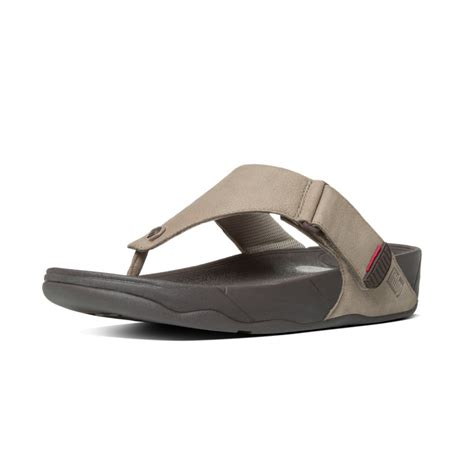 Sandal Wanita Fitflop Via Nubuck fitflop trakk ii mens toe post sandal in timberwolf nubuck leather fitflop from nicholas