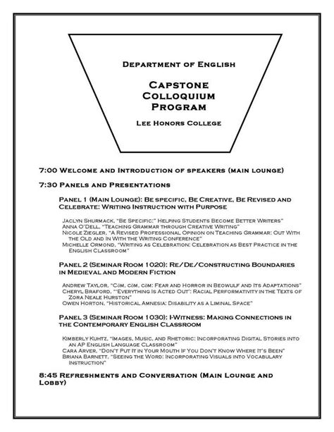 capstone outline template capstone research paper exle success