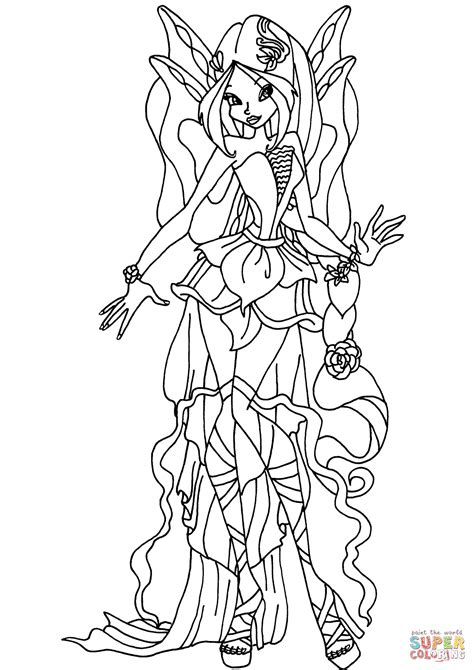 Harmonix Flora Coloring Page With Winx Club Coloring Pages Winx Club Coloring Pages Flora