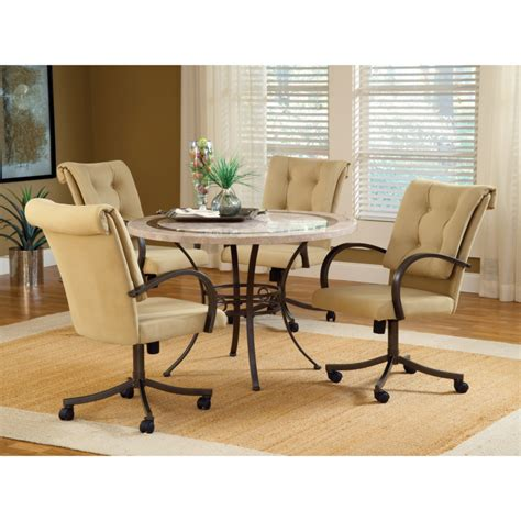 Dining Room Chairs With Arms And Wheels Dining Room Captivating Dining Room Chairs With Casters