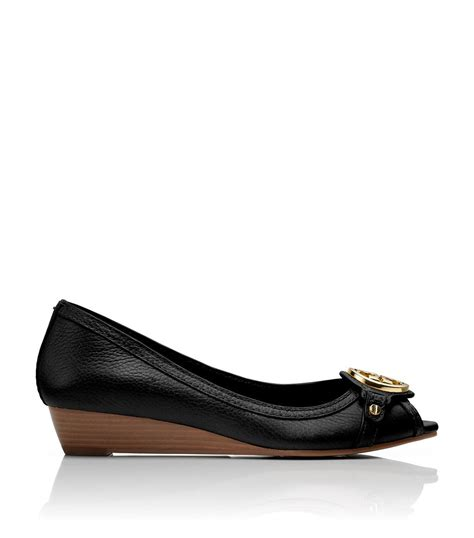 Wedges Letizia burch leticia wedge in black lyst