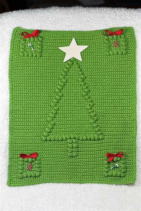 pattern wall blanket crochet pattern christmas tree crochet baby security