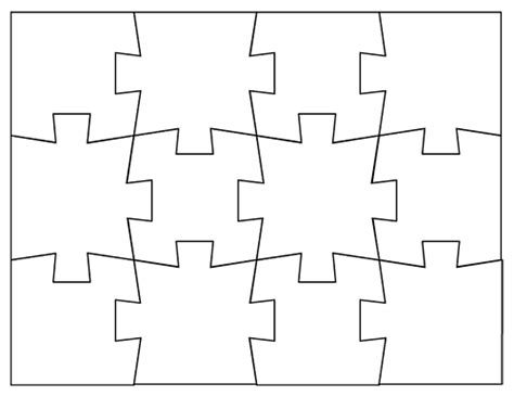 A Puzzle Piece Template May Come In Handy In The Classroom Jigsaw Puzzle Template Free