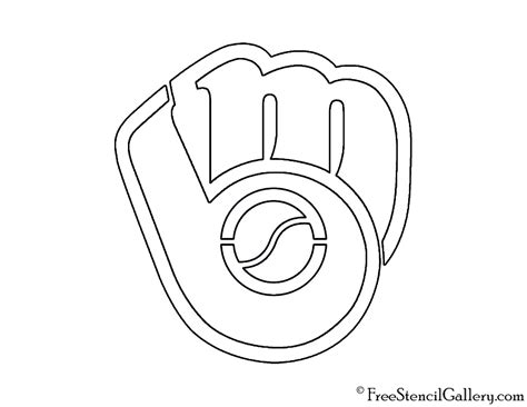 milwaukee brewers logo coloring book coloring pages