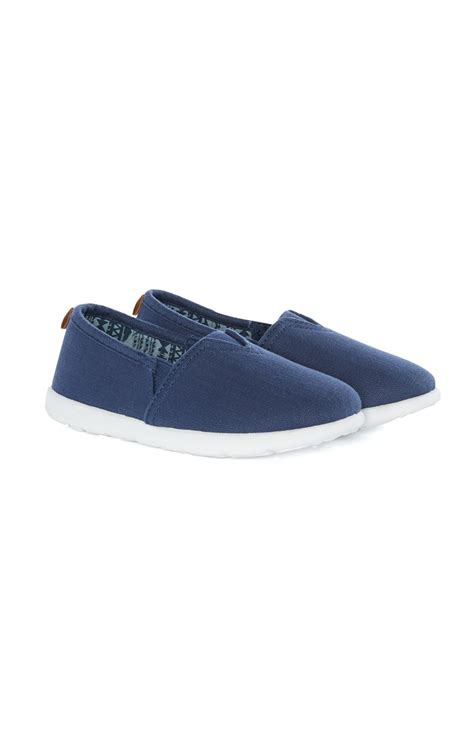 a dazzling younger boy canvas shoe from primark