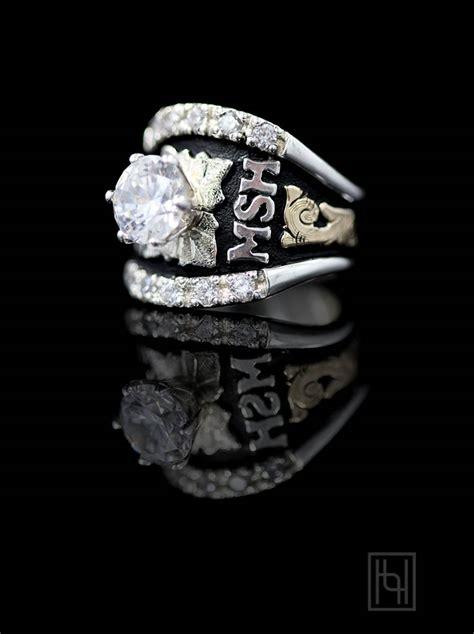 custom texas solitaire ring custom class rings  hyo