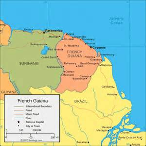 map of guiana south america guiana map and satellite image