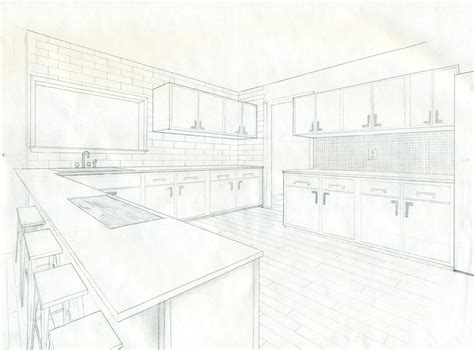 Kitchen 2 Point Perspective by 2 Point Perspective Kitchen By Dragal996 On Deviantart