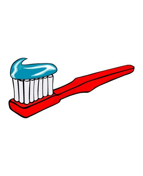 Toothbrush Clipart Free dvd cover creator with toothbrush and paste picture