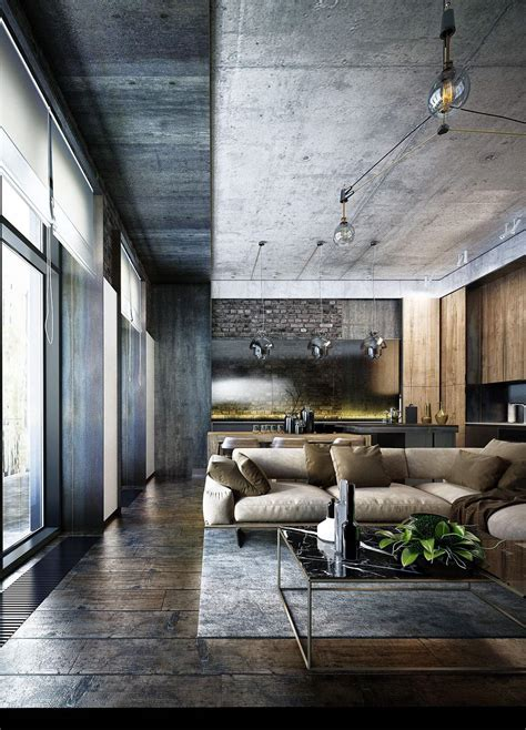 industrial modern design industrial style 3 modern bachelor apartment design
