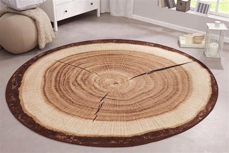 teppiche holzoptik dekorativer design teppich wood 200 cm rund baumstamm