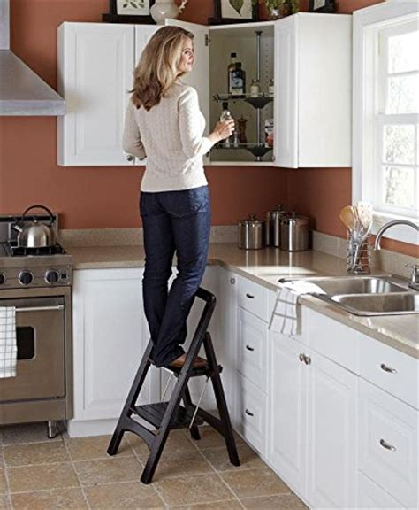 Wayborn Retractable Wooden Step Stool by Wooden Step Stools Finest Convertible Fourstep Library