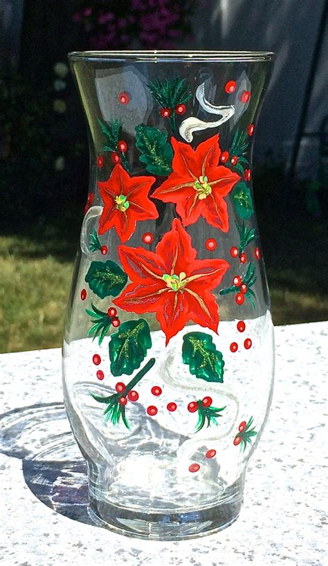 painted vase with poinsettias gift ideas
