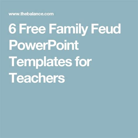 The 25 Best Free Family Feud Game Ideas On Pinterest Family Feud Template For Teachers