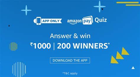 amazon quiz winner all answers of amazon pay quiz earticleblog
